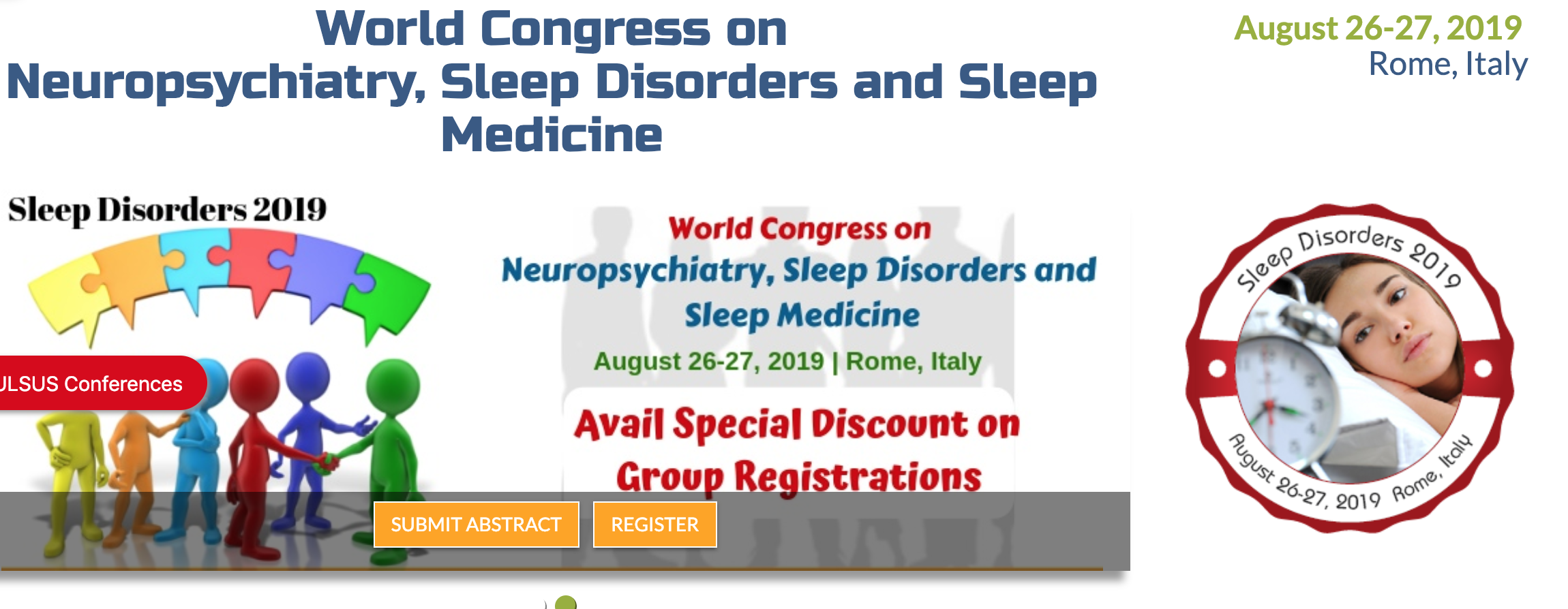 World Congress on Neuropsychiatry, Sleep Disorders and Sleep Medicine